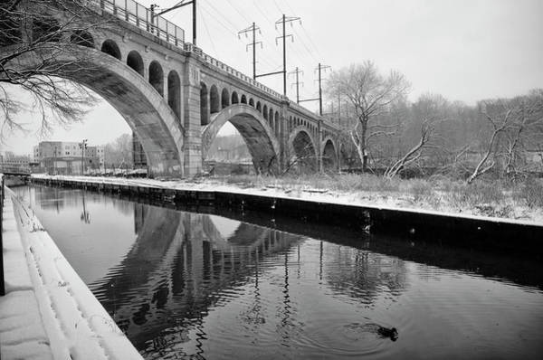 Wall Art - Photograph - Canal Scene In Winter - Manayunk by Bill Cannon
