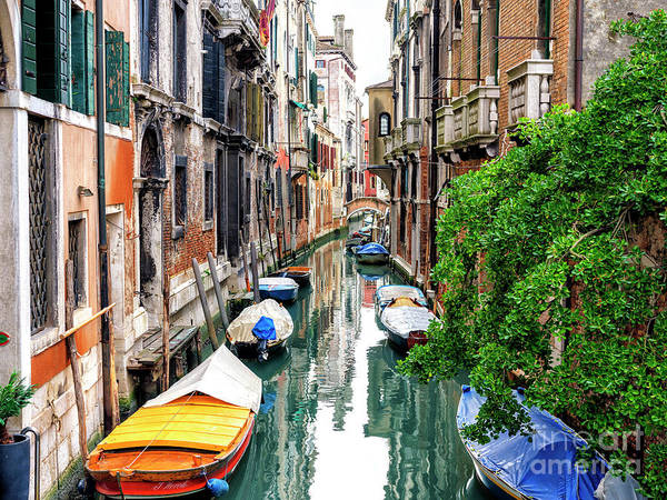 Photograph - Canal Stories In Venice by John Rizzuto