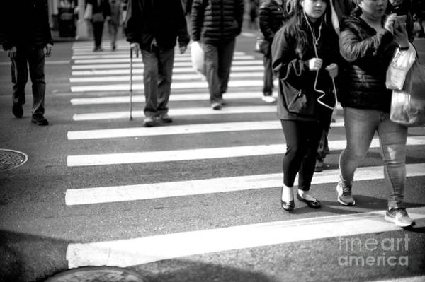 Photograph - Canal Street Crossing New York City by John Rizzuto