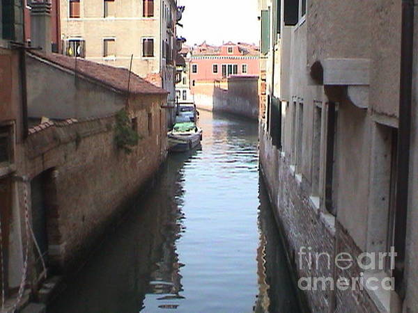 Photograph - Canal Venice Italy Panoramic View by John Shiron