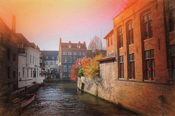 Belgian Photograph - Canals Of Bruges Belgium by Carol Japp