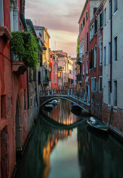 Wall Art - Photograph - Canals Of Venice At Early Morning by Jaroslaw Blaminsky