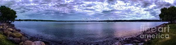 Photograph - Canandaigua Lake Panorama Hyper Color Effect by Rose Santuci-Sofranko