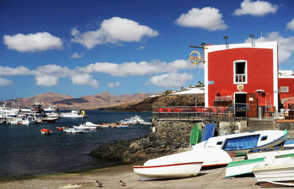 Motorboat Photograph - Canary Islands, Lanzarote, Puerto Del by Wilfried Krecichwost