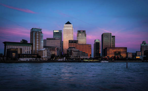 Canary Wharf Photograph - Canary Wharf At Sunset by Vulture Labs