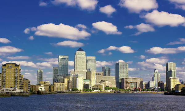 Canary Photograph - Canary Wharf Daytime by Darkerphoto