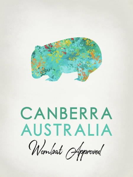 Wall Art - Digital Art - Canberra Australia Wombat by Flo Karp