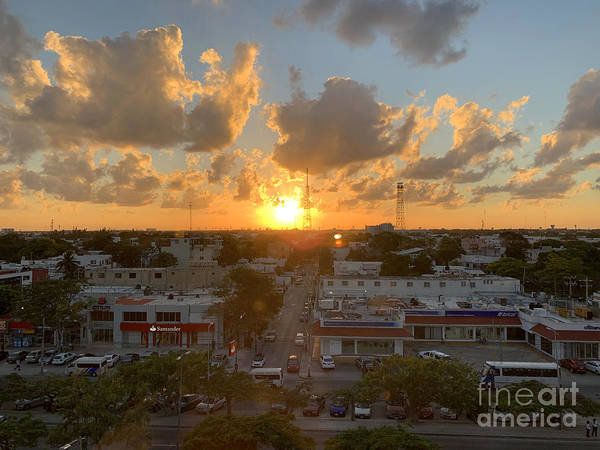 Wall Art - Photograph - Cancun Sunset 1 by Andrew Dinh