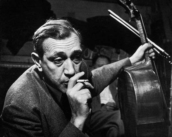 Candid Photograph - Candid Of Cellist Gregor Piatigorsky by W. Eugene Smith