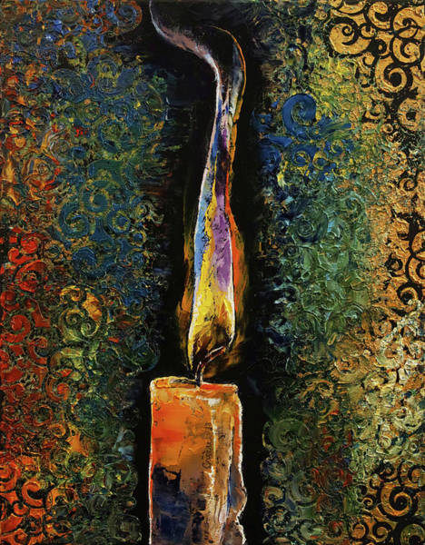Wall Art - Painting - Candle Flame by Michael Creese