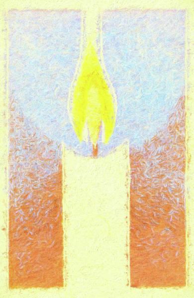 Wall Art - Mixed Media - Candle Flame Pastel by Carol Leigh