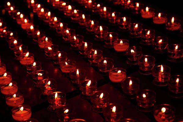 In Bruges Photograph - Candles In Basilica Of Holy Blood by Danita Delimont
