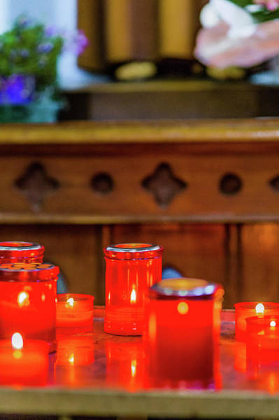 Wall Art - Photograph - Candles In Church by Gone With The Wind
