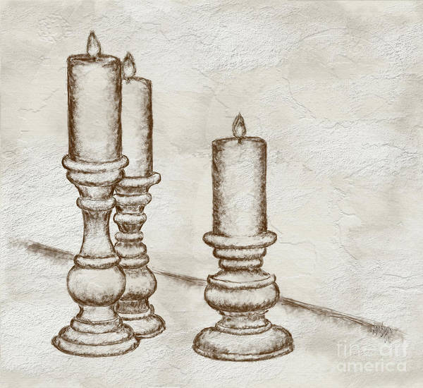 Wall Art - Digital Art - Candlesticks by Lois Bryan