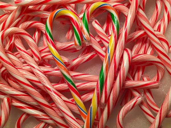 Wall Art - Photograph - Candy Cane Heart by Denise Mazzocco