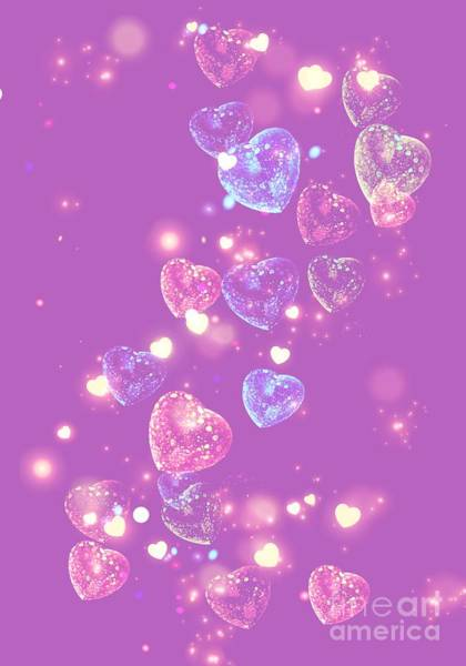 Digital Art - Candy Hearts by Rachel Hannah