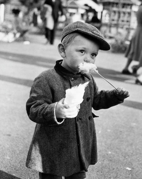 Black Cap Photograph - Candy Kid by Archive Photos
