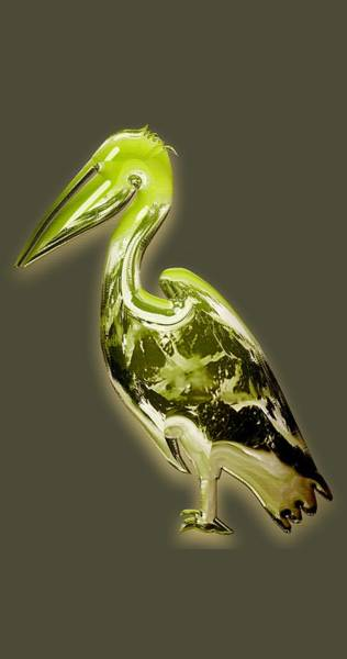 Pelican Mixed Media - Candy Lime Green Pelican by Marvin Blaine