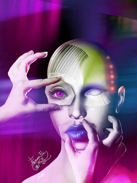Barcode Digital Art - Candy#1 by Francesca Fini