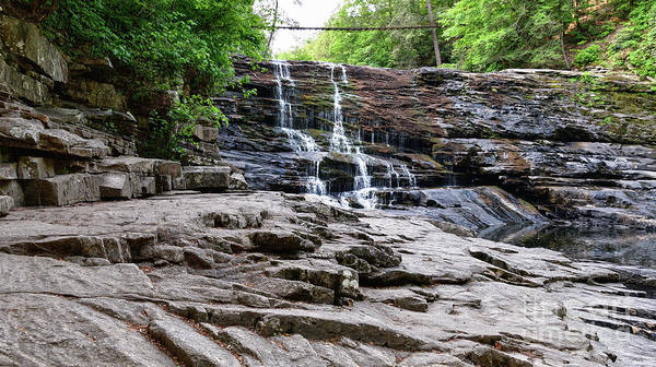Photograph - Cane Creek Cascades 5 by Phil Perkins