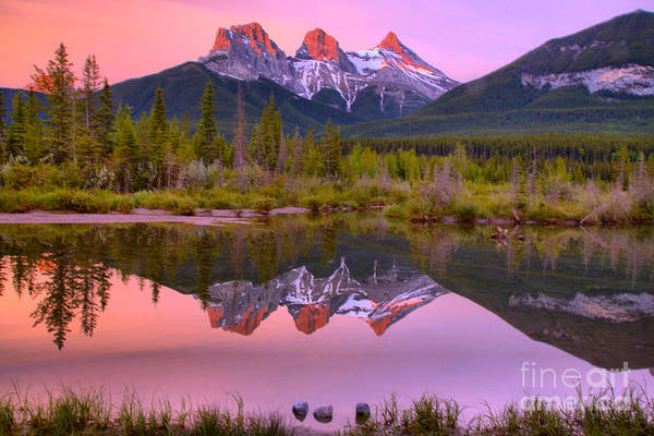 Photograph - Canmore Brilliant Sunrise by Adam Jewell