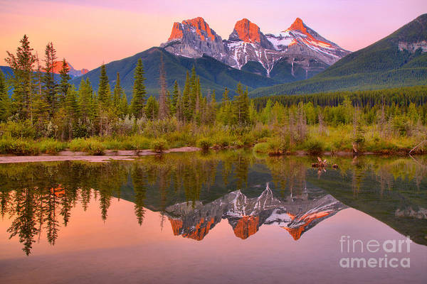 Photograph - Canmore Morning Pastels by Adam Jewell