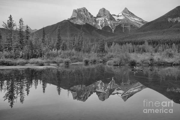 Photograph - Canmore Morning Pastels Black And White by Adam Jewell