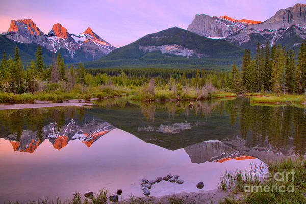Photograph - Canmore Sunrise Reflection Landscape by Adam Jewell