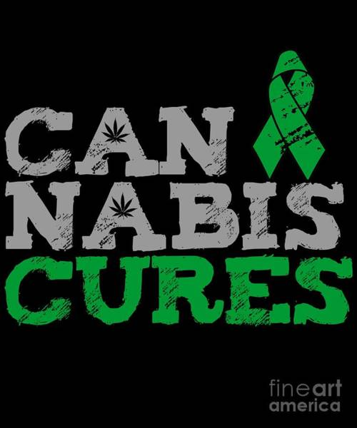 Digital Art - Cannabis Cures Thc 420 Cbd by Flippin Sweet Gear