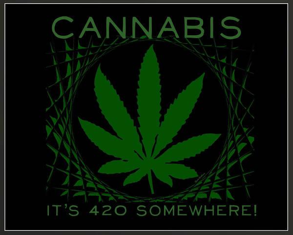 Digital Art - Cannabis  by Scott Wallace Digital Designs