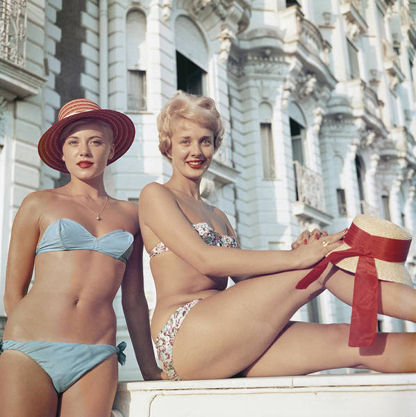 Carlton Hotel Photograph - Cannes Cannes Girls by Slim Aarons