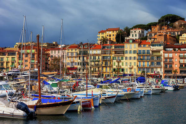 Wall Art - Photograph - Cannes City View From Harbour To Old Town by Artur Bogacki