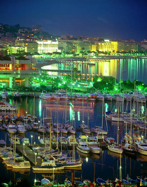 French Riviera Photograph - Cannes Cityscape, Les Croisette And The by Kathy Collins