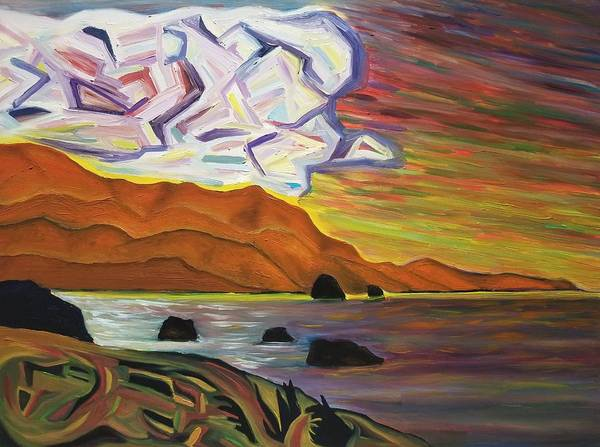 Cannon Beach Painting - Cannon Beach by Karyn Robinson