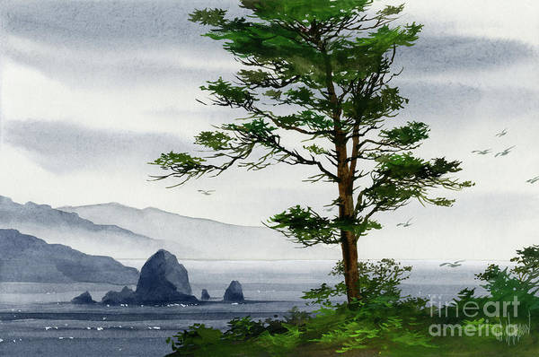 Cannon Beach Painting - Cannon Beach Shore by James Williamson