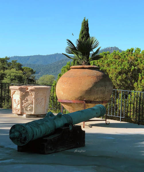 Photograph - Cannon Hearst Castle Patio by Barbara Snyder