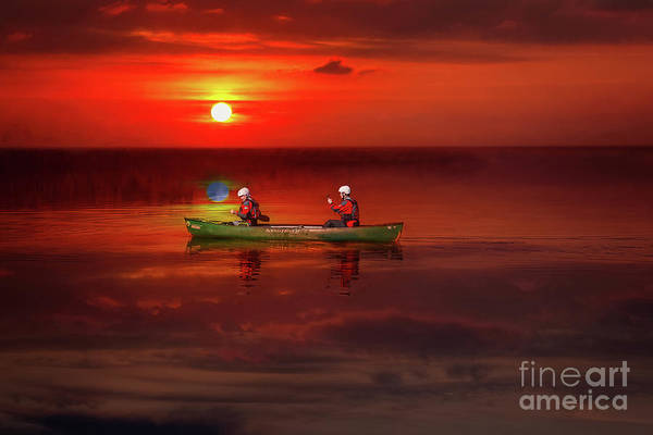 Wall Art - Photograph - Canoe At Sunset by Adrian Evans