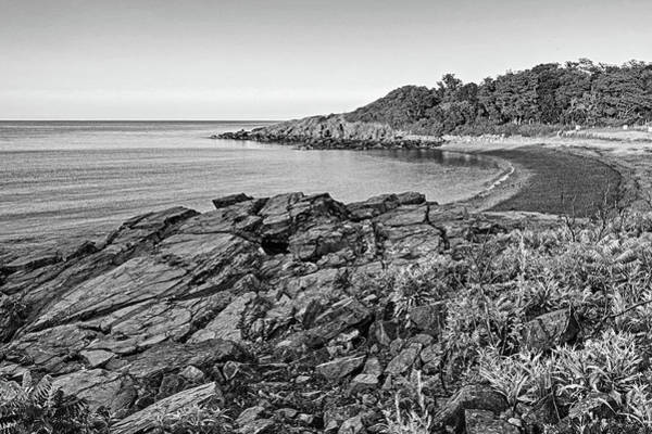 Photograph - Canoe Beach Nahant Ma Lodge Park Black And White by Toby McGuire