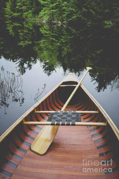 Photograph - Canoe Film Fade by Edward Fielding