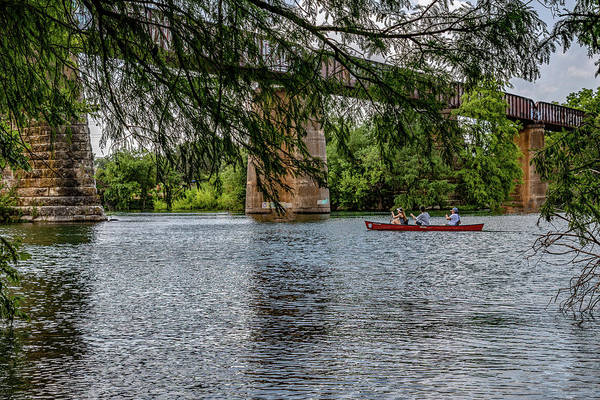 Photograph - Canoeing Lady Bird Lake by Gaylon Yancy