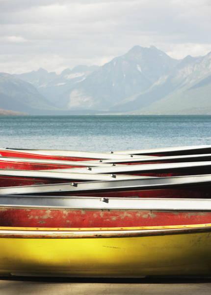 Rowboat Photograph - Canoe Rowboat Dinghy Dock Summer Camp by Chuckschugphotography