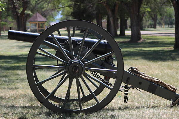 Photograph - Canon At Fort Stanton New Mexico Military History by Colleen Cornelius