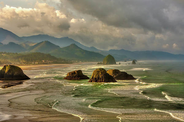 Ecola State Park Photograph - Canon Beach From Ecola State Park by Bob Pool