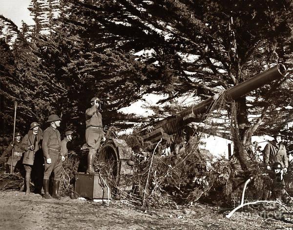 Photograph - Canon De 155mm Grande Puissance Filloux Monterey,  Calif. Jan. 1 by California Views Archives Mr Pat Hathaway Archives