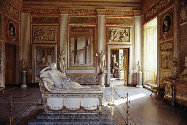 Villa Photograph - Canova Sculpture by Slim Aarons