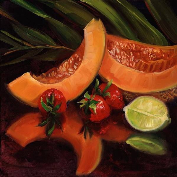 Wall Art - Painting - Cantalope by Laurie Snow Hein