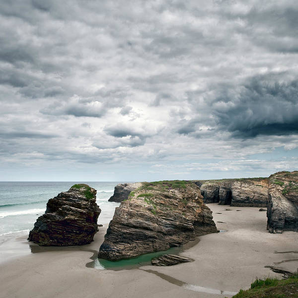Galicia Photograph - Cantábrico Sea And Rocks On Catedrales by Julio Lopez Saguar