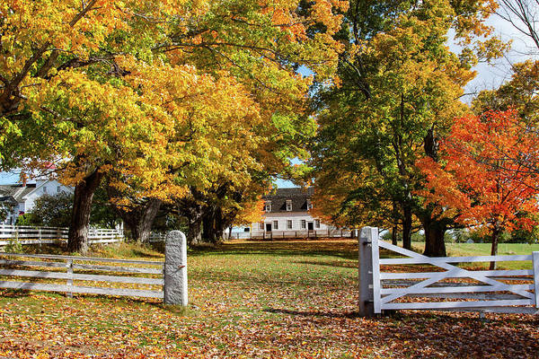 Photograph - Canterbury Shaker Village Meeting House by Jeff Folger