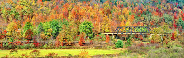 Wall Art - Photograph - Cantilever Bridge And Autumnal Trees by Panoramic Images