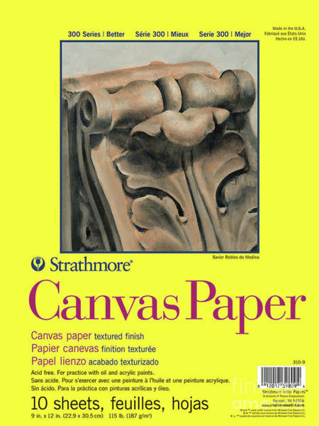 Painting - Canvas Paper 300 9 By 12 Inches 10 Sheets by STRATHMORE Artist Papers